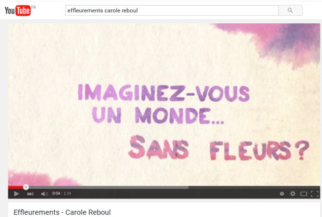 youtube video effleurements carole reboul